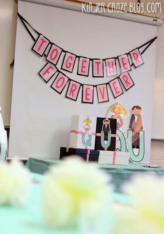 Celebrating a Q and U Wedding in Kindergarten