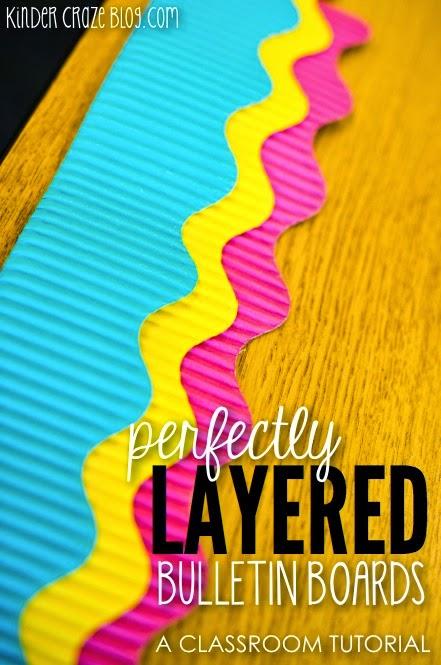 perfectly layered bulletin board