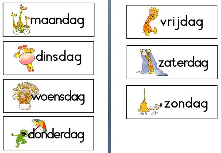 Preschool Werkbladen Dagen Van De Week 1