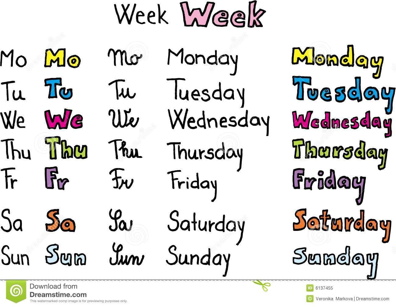 Preschool Werkbladen Dagen Van De Week 6