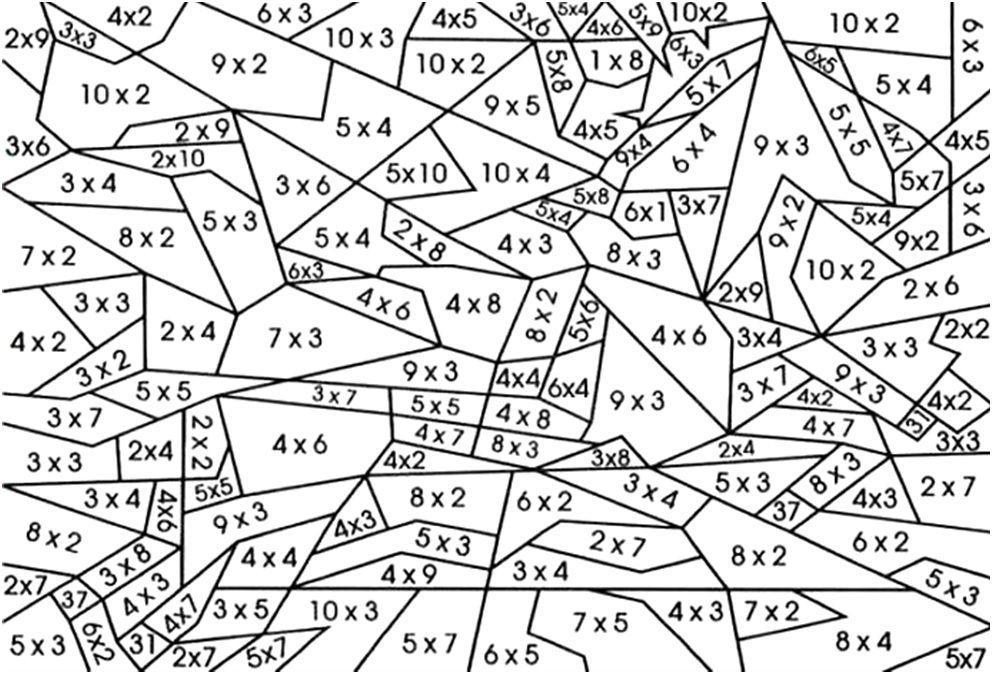 Vermenigvuldiging Werkbladen Nummers 1-12 6