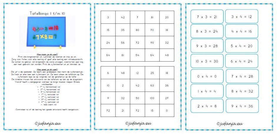 Vermenigvuldiging Werkbladen Twee Cijfers 6