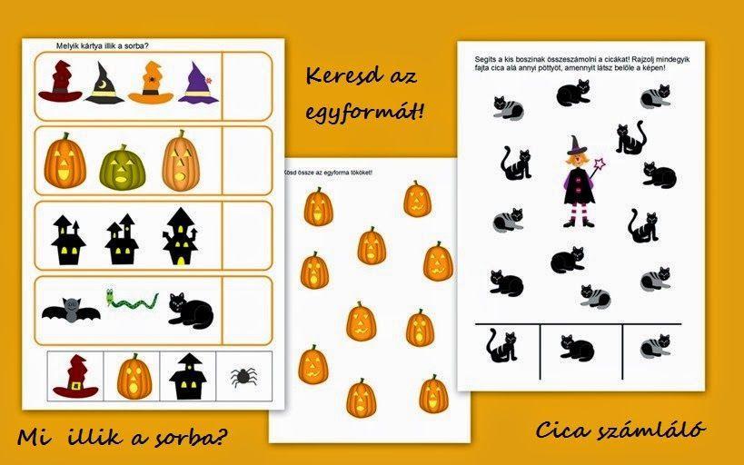 Voorschoolse Werkbladen Halloween 2