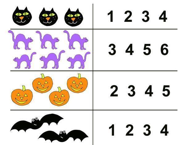 Voorschoolse Werkbladen Halloween 3