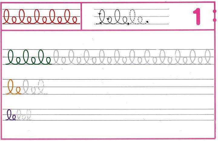 Voorschoolse Werkbladen Handschrift 3