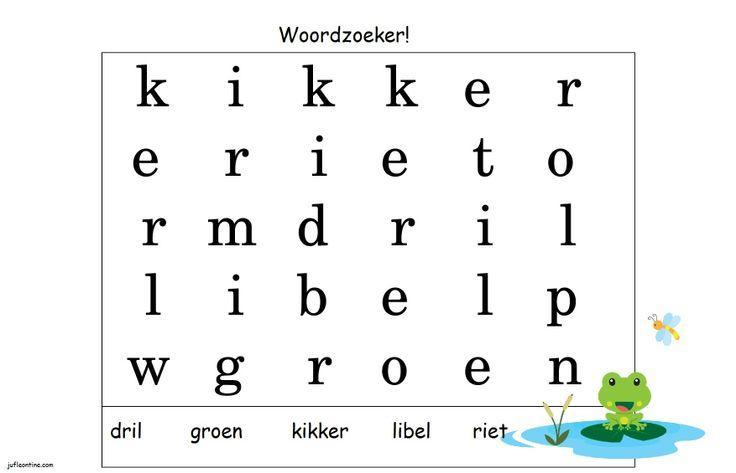 Voorschoolse Werkbladen In Het Engels 8