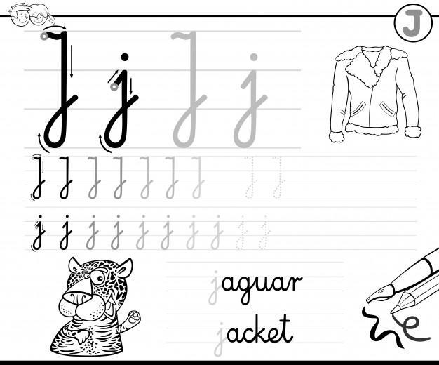 Voorschoolse Werkbladen Letter J 2