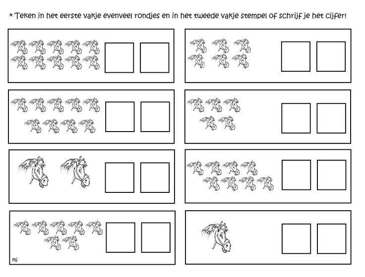 Voorschoolse Werkbladen Tellen 1