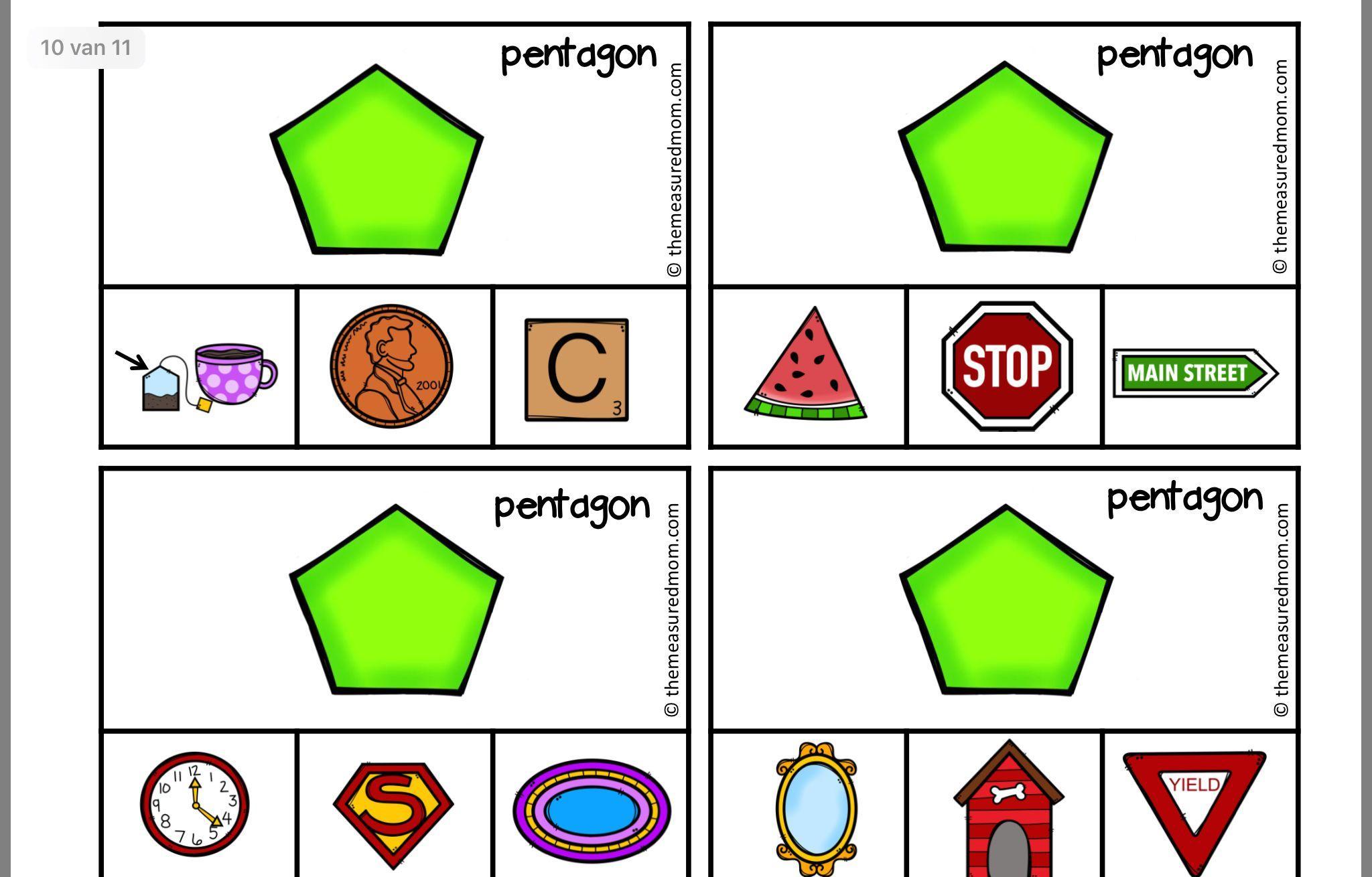 Voorschoolse Werkbladen Vormen 8