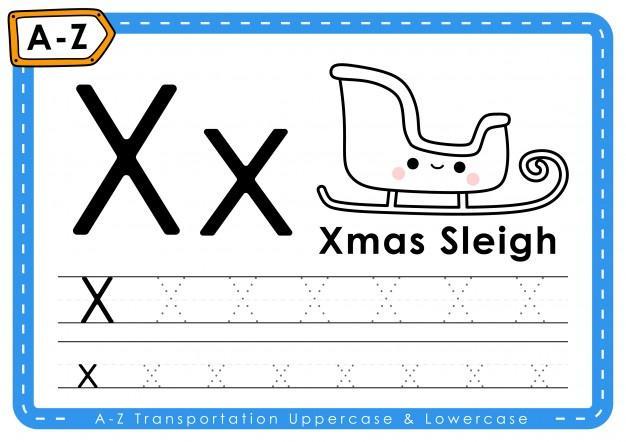 Voorschoolse Alfabet X Werkblad 9