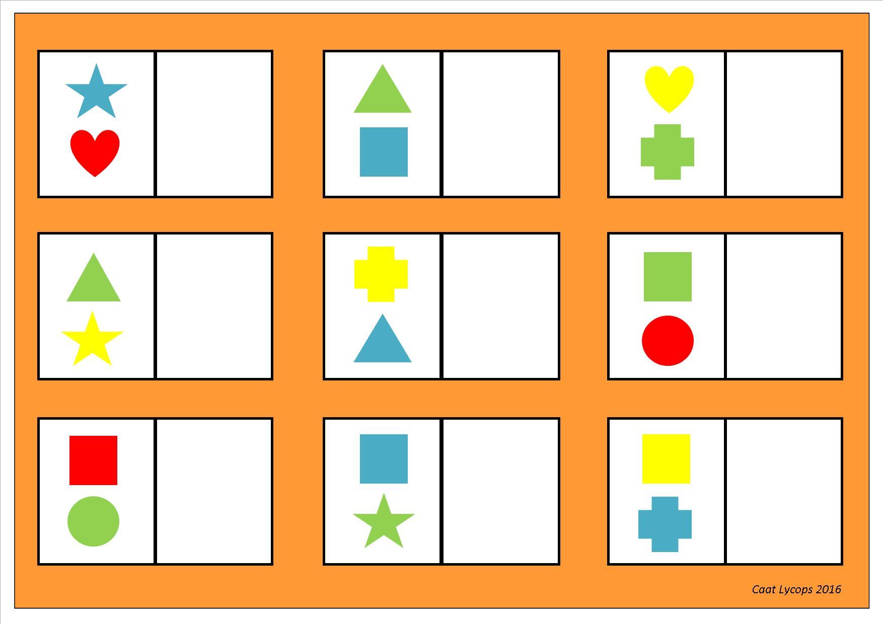 Voorschoolse Werkbladen Matching 7