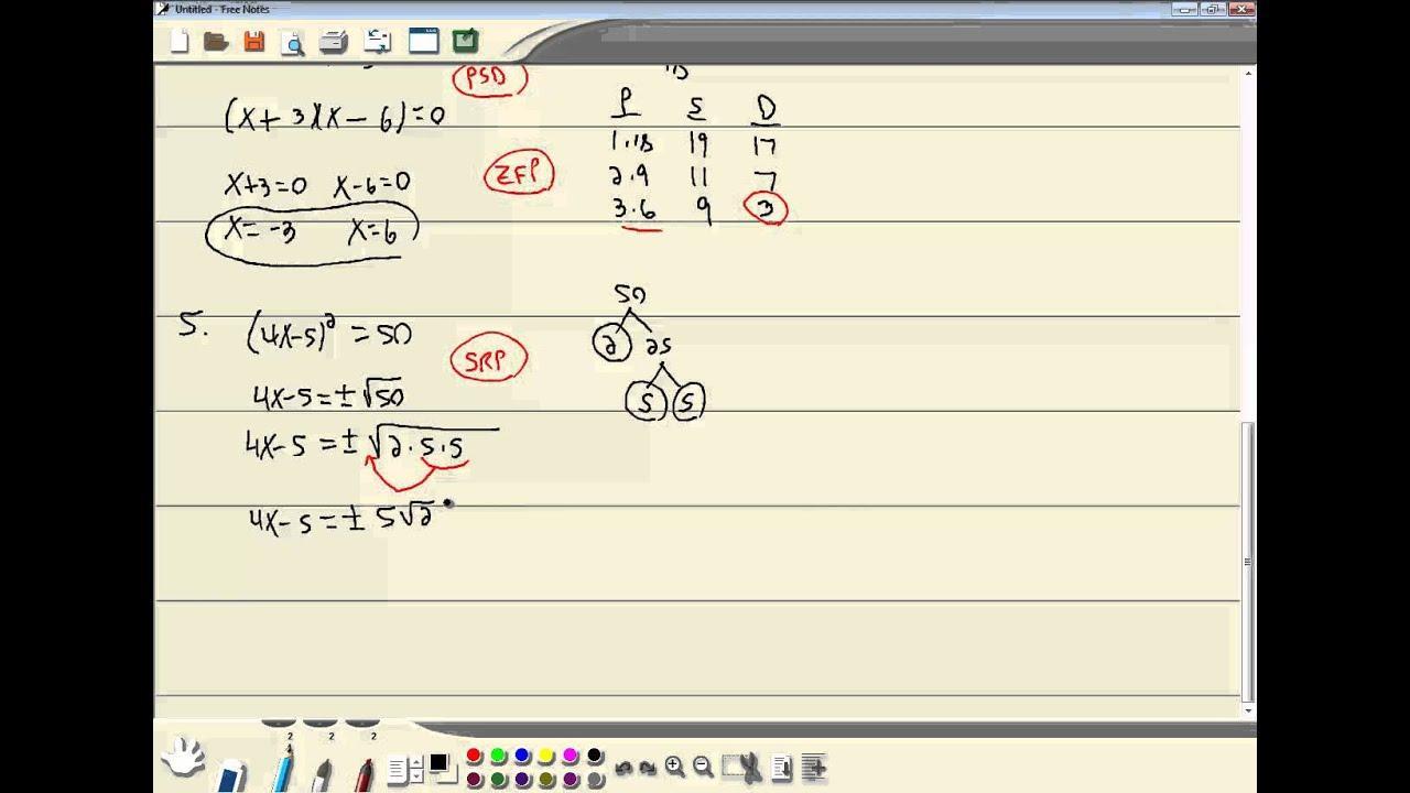 Algebra Werkbladen College 3