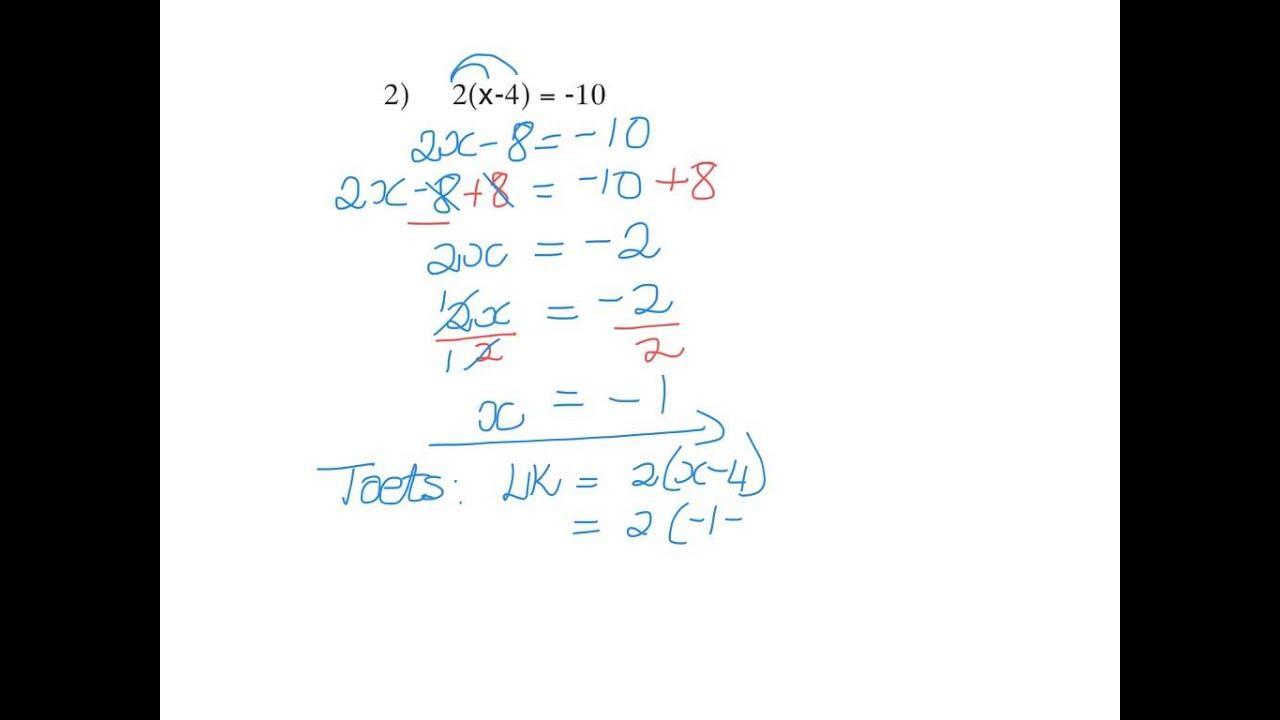 Algebra-werkbladen Graad 8 3