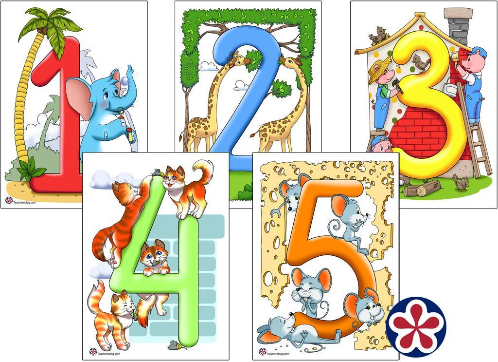 Rekenbladen Nummers 1-5 4