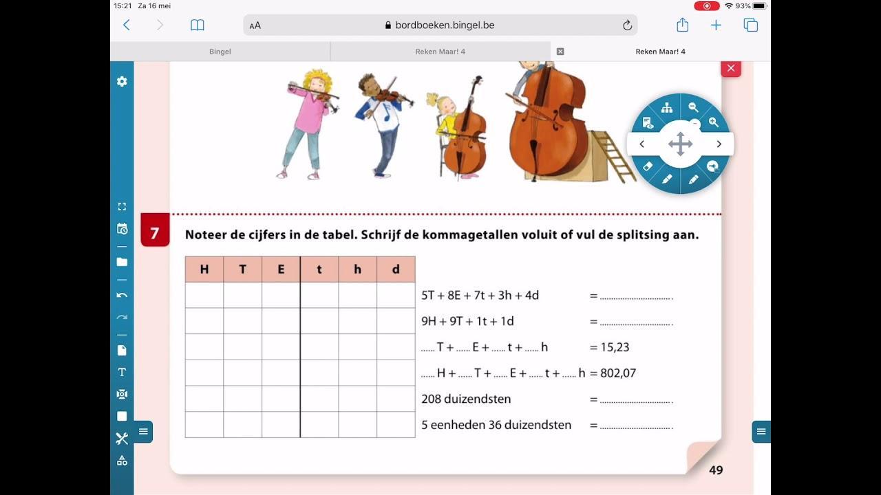 Wiskunde-werkbladen Die Decimalen Afronden 5