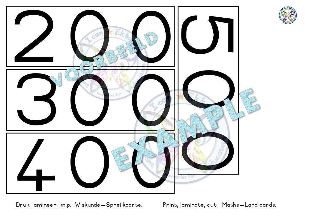 Wiskunde-werkbladen Nummers 1-50 3