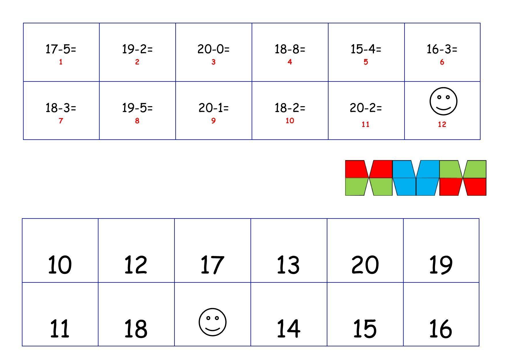 Wiskunde-werkbladen Tot 20 3