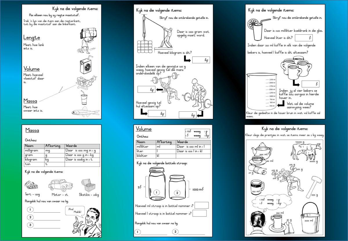 Wiskunde Werkbladen Volume 1