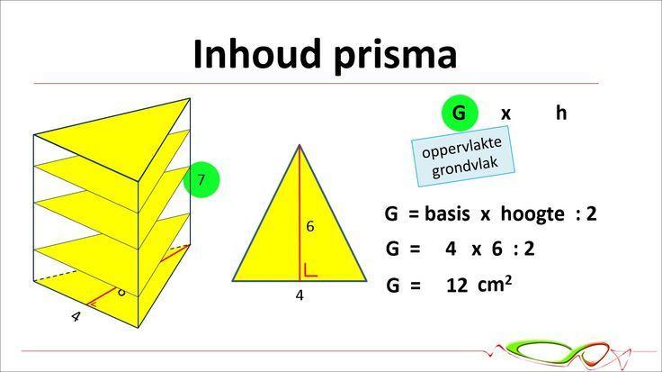 Wiskunde Werkbladen Volume Van Driehoekig Prisma 2