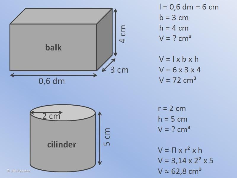 Wiskunde Werkbladen Volume Van Driehoekig Prisma 3