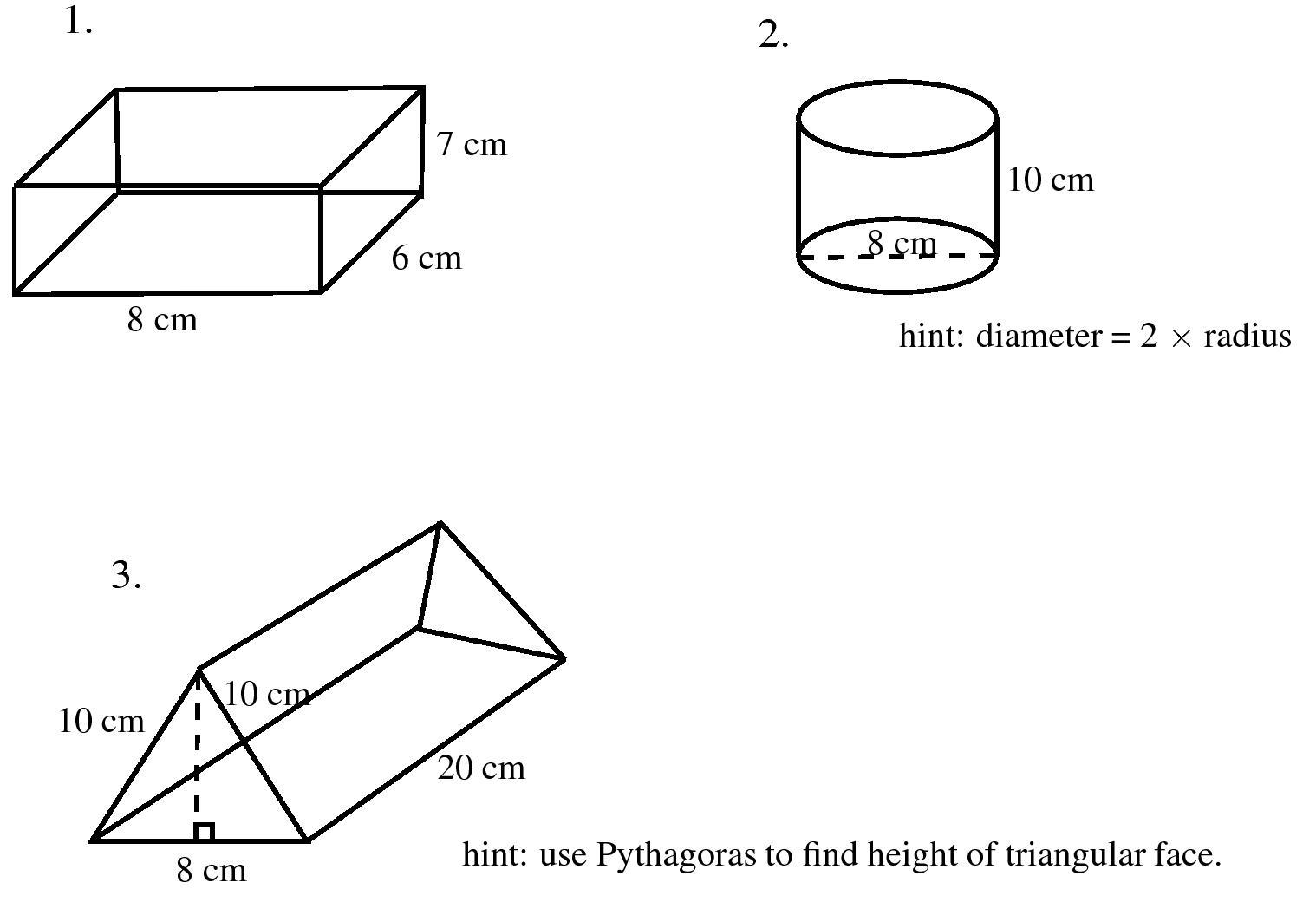 Wiskunde Werkbladen Volume Van Driehoekig Prisma 5