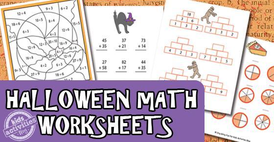 Algebra Halloween-werkbladen 7