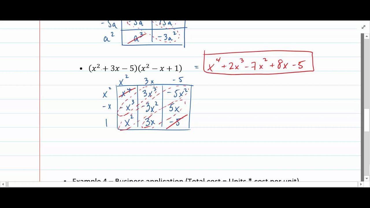 Algebra Ii-werkbladen 5