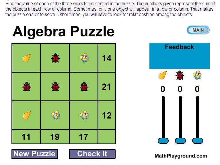Algebra Puzzel Werkbladen Middelbare School 8