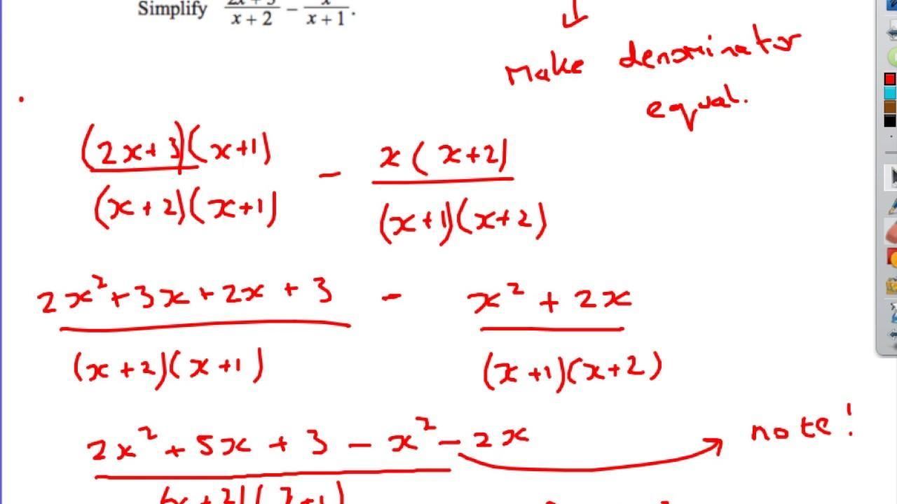 Algebra-werkbladen Igcse 2