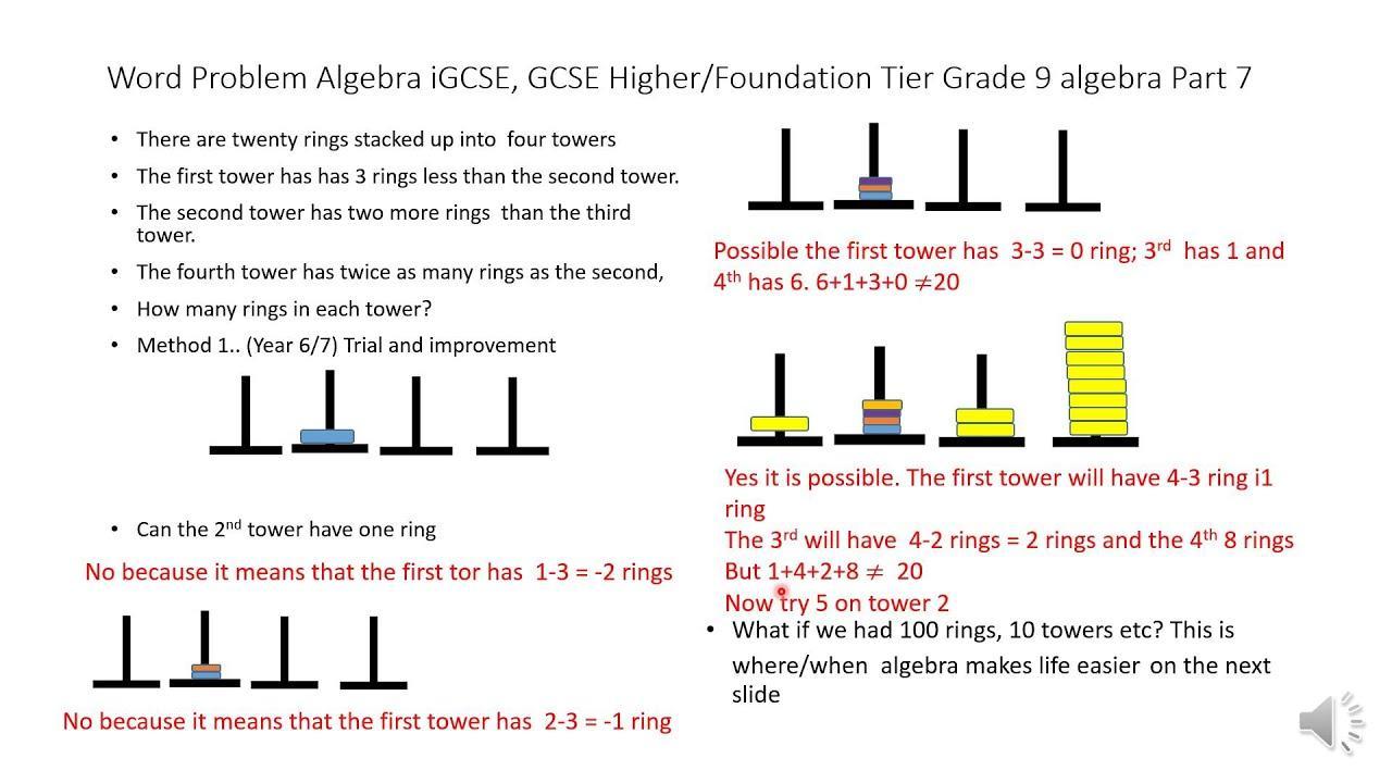Algebra-werkbladen Igcse 5