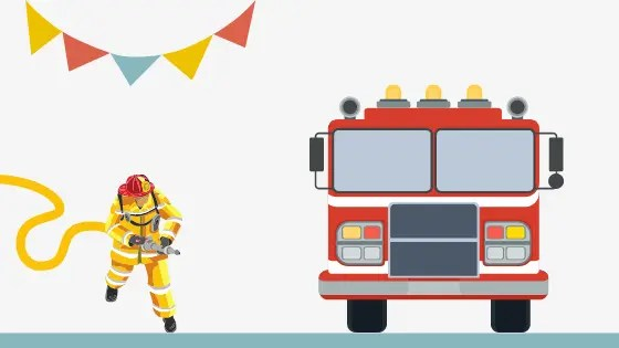 brandweerfeestje thuis