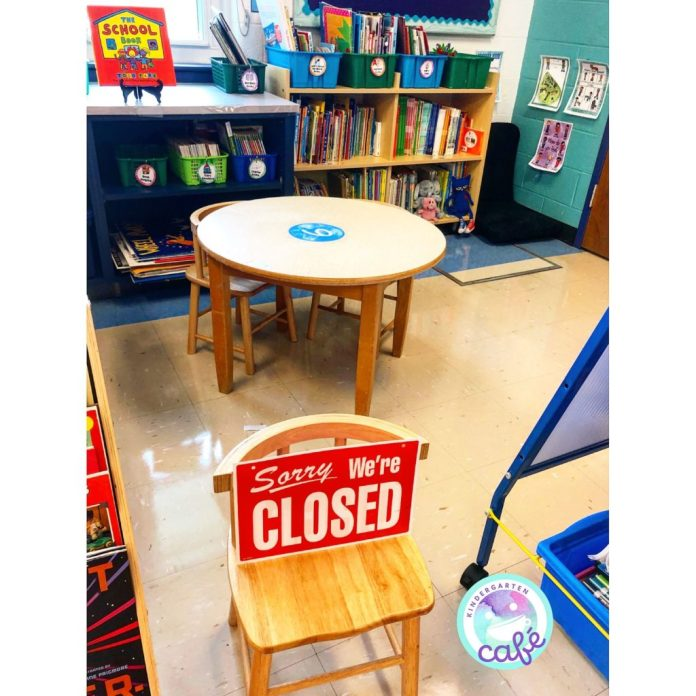 classroom play areas set up