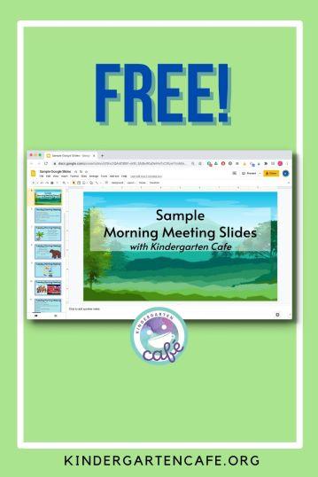 free morning meeting google slides