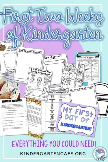Everything you need for back to school for kindergarten! All your first week activities and lesson plans are ready to go!