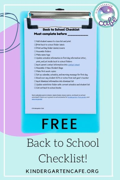 Free back to school checklist to help with remember all the jobs to do before school starts!