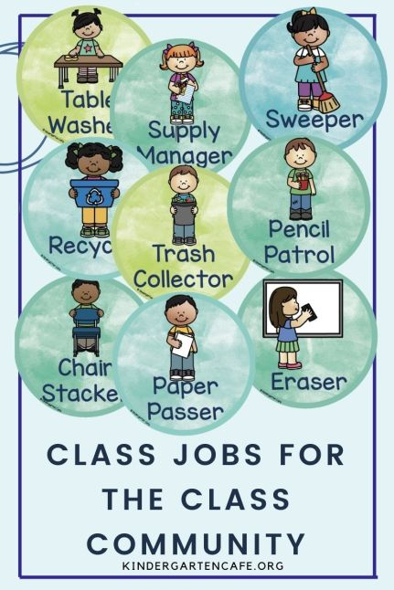 ideas for classroom jobs to help the class community