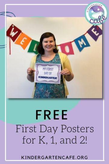 Free welcoming classroom environment sign for the first day of school for kindergarten, first grade, and second grade!