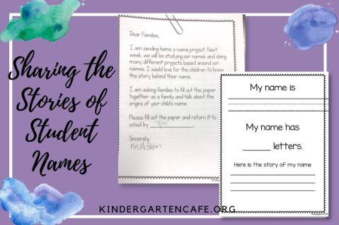 kindergarten name project stories of student names