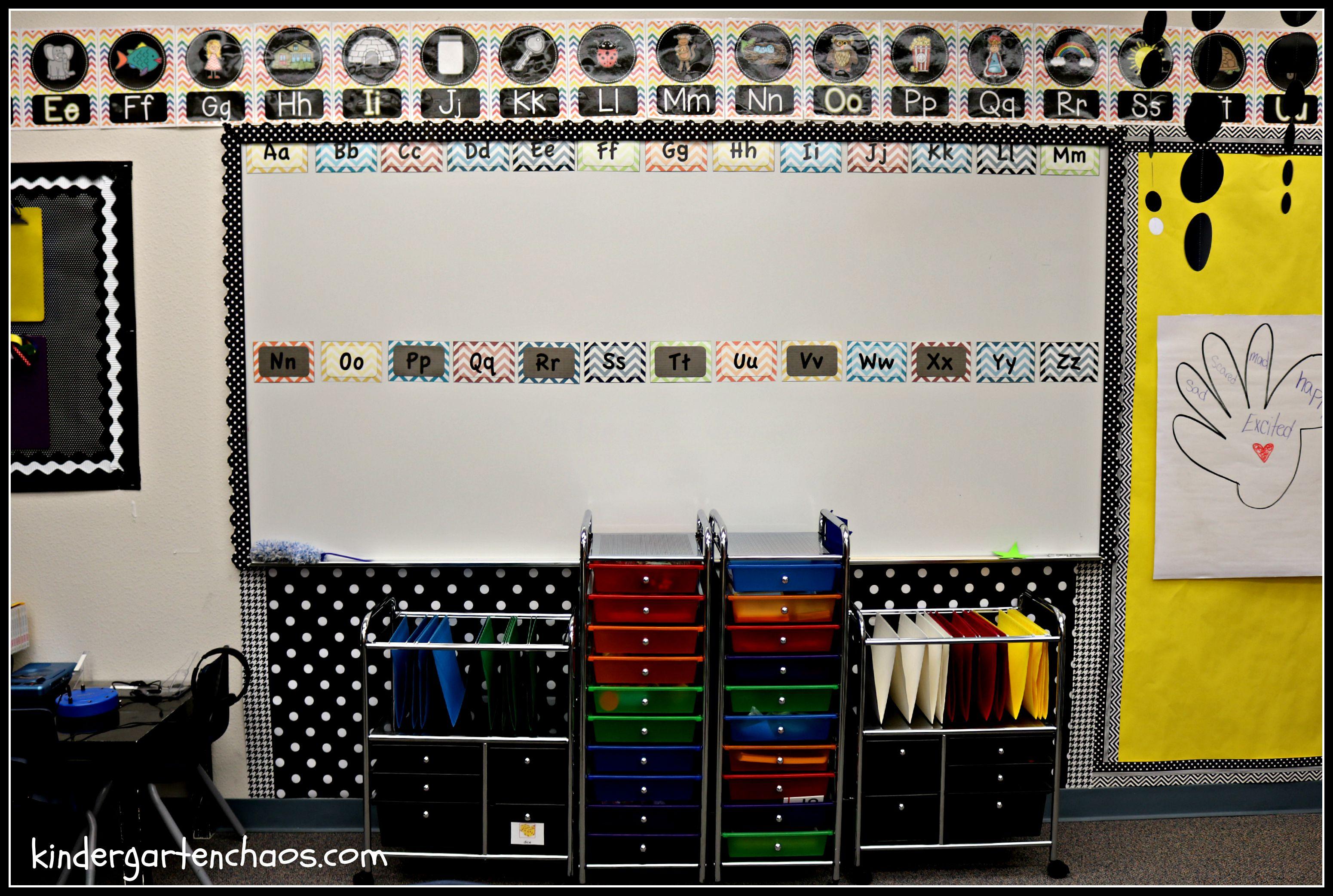 My Kindergarten Classroom Reveal Organization