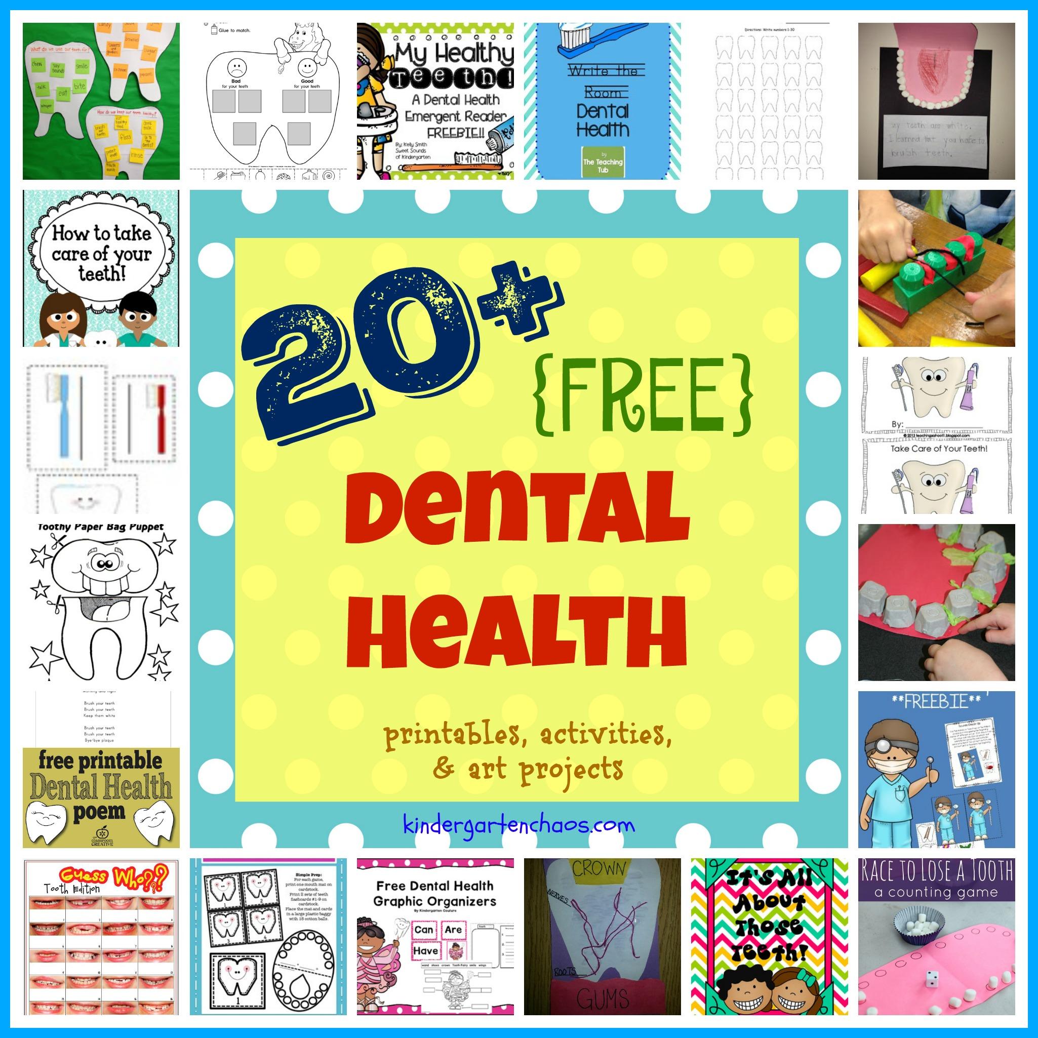 20 Free Dental Health Printables Activities Amp Art