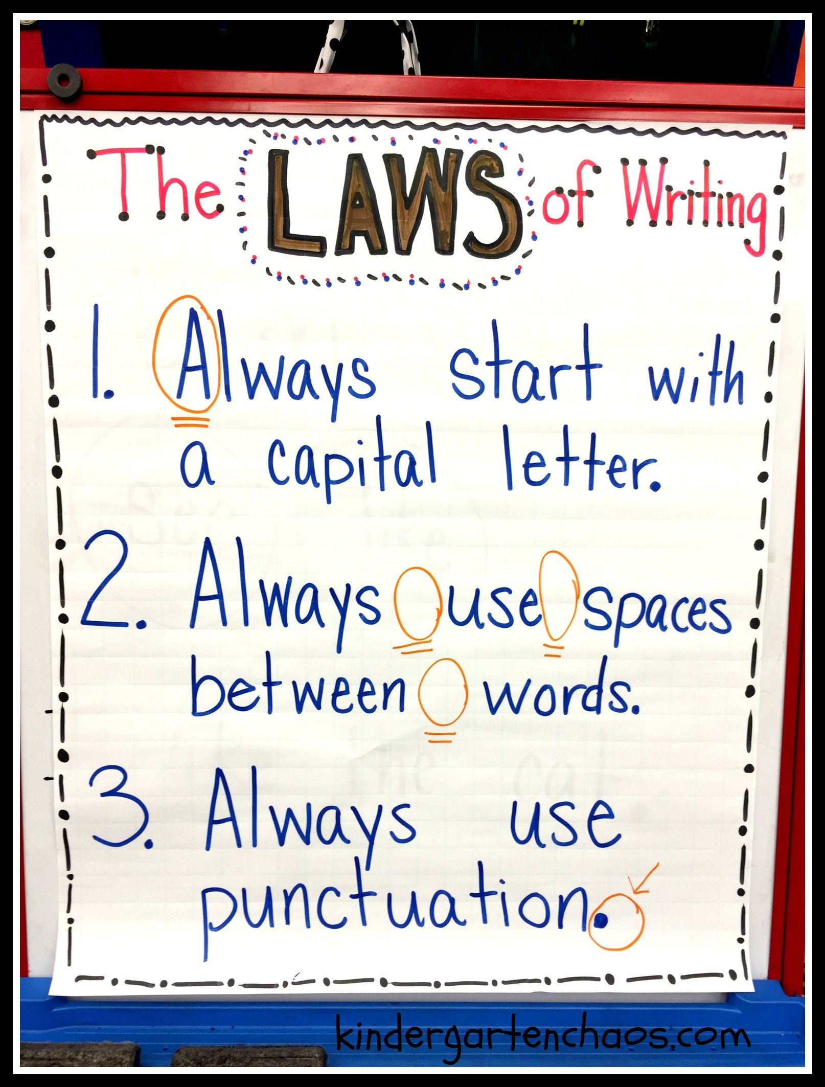 Kindergarten Writing Rules Or Laws Kindergartenchaos Com