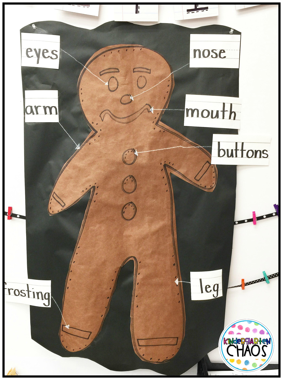 Label A Gingerbread Man
