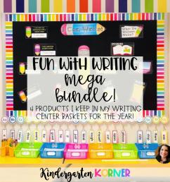 Creating Writing Centers in Kindergarten \u0026 1st Grade! - Kindergarten Korner [ 1080 x 1080 Pixel ]