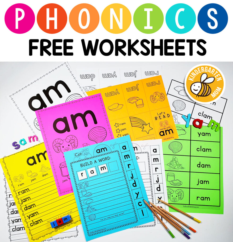 hight resolution of Phonics Worksheets - Kindergarten Mom