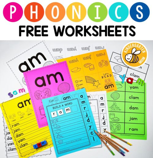 small resolution of Phonics Worksheets - Kindergarten Mom