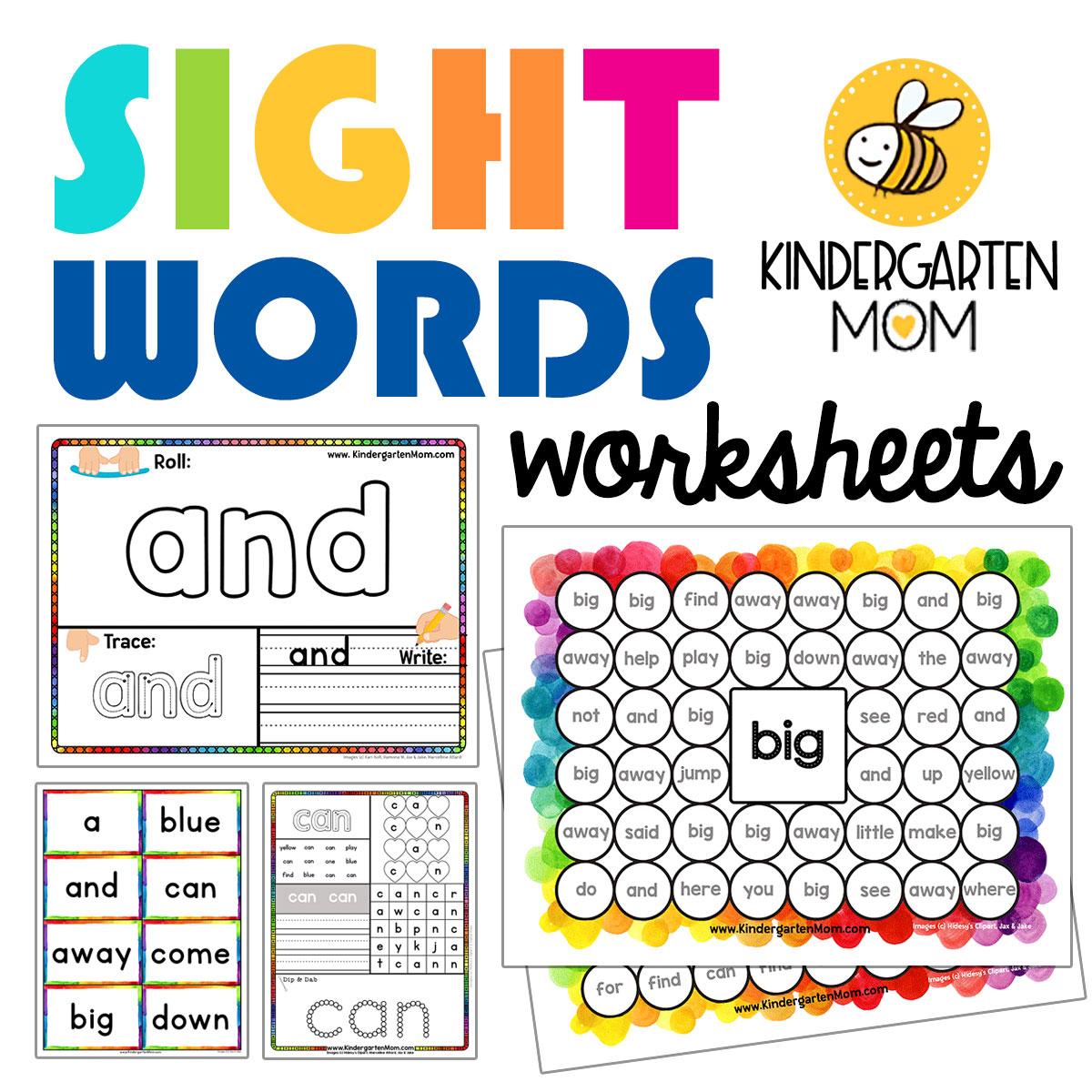 Kindergartensightwordsworksheets