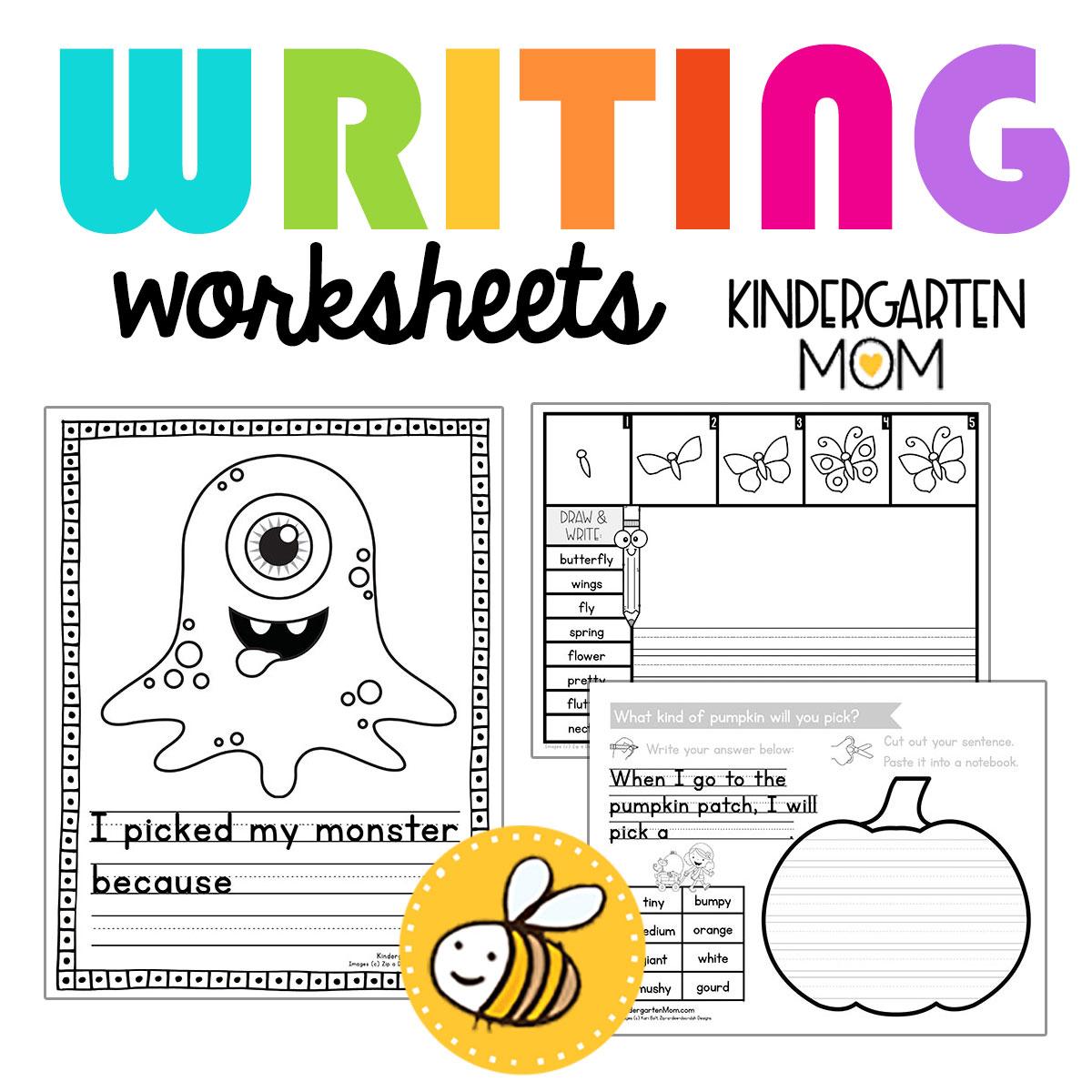 Kindergartenwritingworksheets