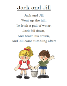 Jack and Jill Printable Preview