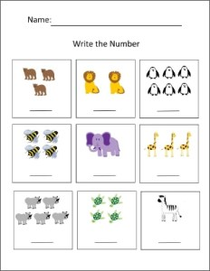 write the number activity