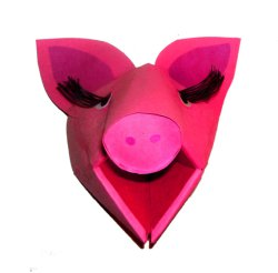 3 D pig craft